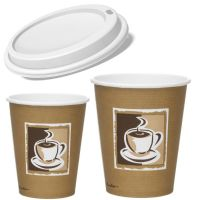Disposable Coffee Cups With Lids 7oz, 8oz,10oz,12oz,16oz